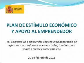 Plan Estímulo Apoyo Emprendedor Gobierno de España
