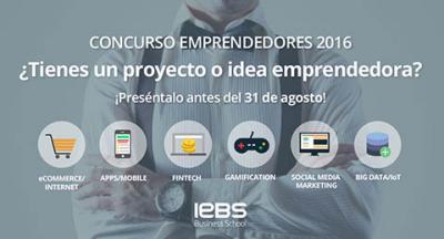 Concurso emprendedores 2016 IEBS Business School