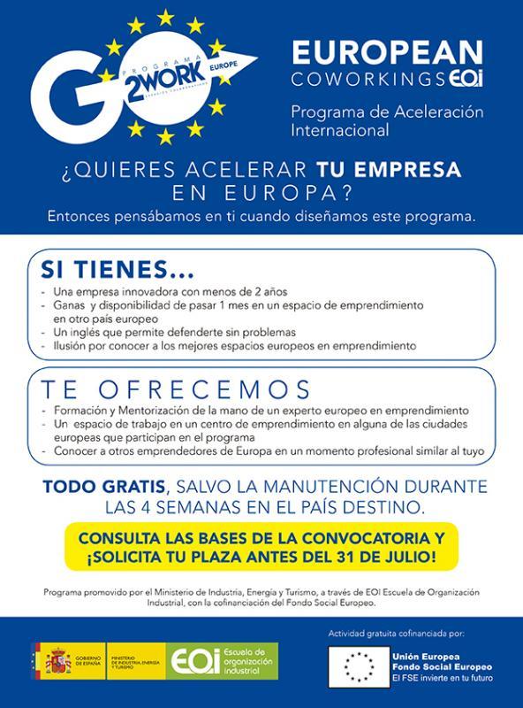Programa de Aceleraci�n Internacional European Coworkings de la EOI