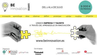 "ValenciaLAB acogerá ""BE INNOVATION"""