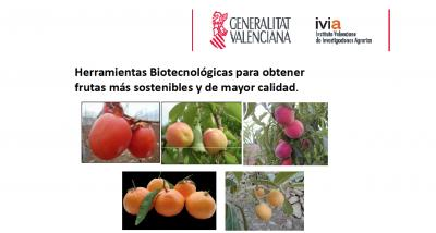 Ponencia: Herramientas biotecnológicas para una producción más sostenibles y de calidad