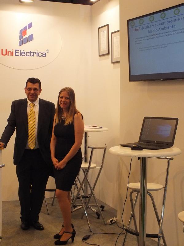 Juan Ariza y Cristina Moreno, en un reciente congreso especializado