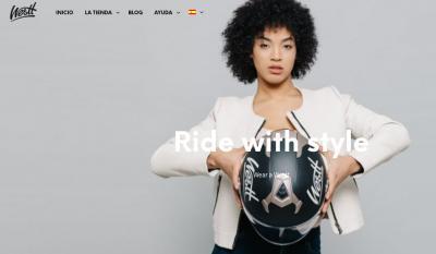 Página web de venta de cascos online Westt