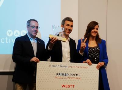 Westt® galardonado con el premio Proyecto Empresarial por el Ayuntamiento de Valencia