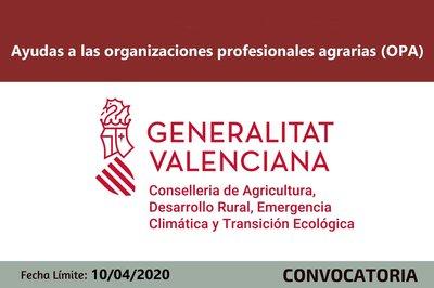 Ayudas organizaciones agrarias