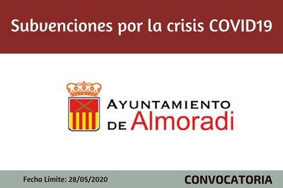 Subvenciones por crisis sanitaria Covid-19 del Ayuntamiento de Almoradí