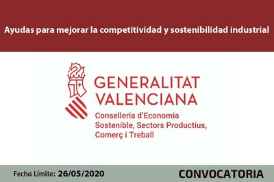 Ayudas para mejorar la competitividad y sostenibilidad industrial