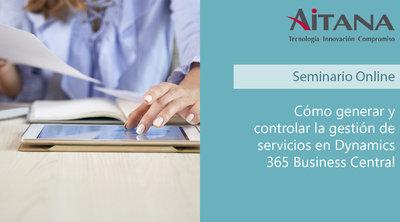 Cómo generar y controlar la gestión de servicios en Business Central
