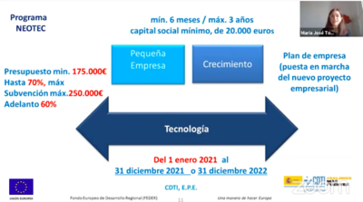 25 M€ para pequeñas empresas con tecnología propia