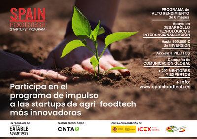 Convocatoria SPAIN FOODTECH Startups' Program