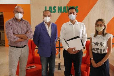 Rufino Selva, Distrito Digital; Carlos Galiana, concejal Ayuntamiento de València; Antonio Fernández, DEV; y Marta Chillarón, Las Naves