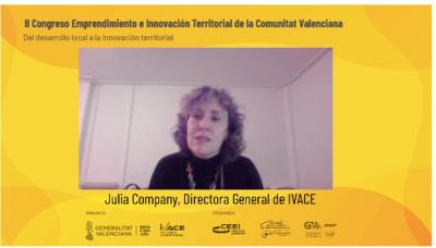 Julia Company en el II Congreso de Emprendimiento e Innovación Territorial