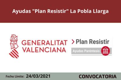 """Ayudas """"Plan Resistir"""" en La Pobla Llarga"""