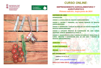 Cartel curso emprendimiento online
