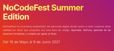Competición digital: NoCodeFest Summer Edition