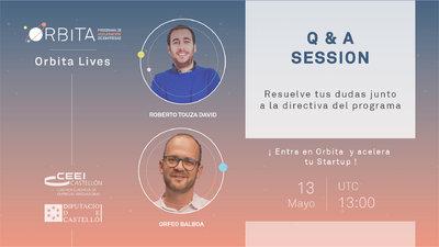 Q&A Órbita. Sesión informativa de para interesados en el Programa de aceleración
