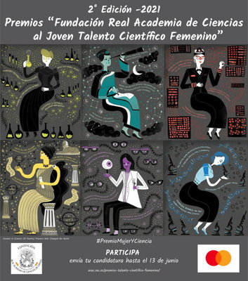 """Convocatoria 2ª edición 2021 Premios """"Fundación Real Academia de Ciencias al Joven Talento Científico Femenino"""""""