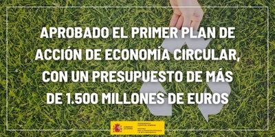 El Gobierno aprueba el I Plan de Acción de Economía Circular