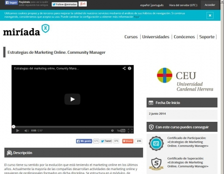 Miriada X: Estrategias de Marketing Online. Community Manager